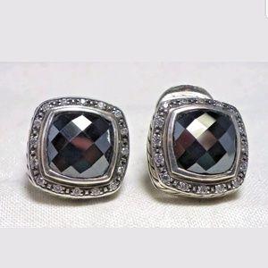 David Yurman Albion 11mm Hematite Diamon Earrings